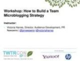 Workshop slide deck