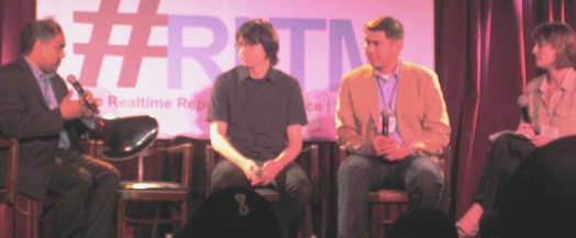 photo of the #RLTM NY panel with Ajit Jaokar, Steve Klabnik, Joe Sarmiento and Tonia Ries