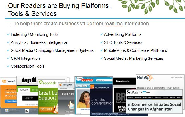 Advertise to realtime and social media business decision makers who are buying realtime business tools