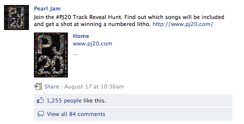 Pearl Jam Scavenger Hunt Launched via Social Media