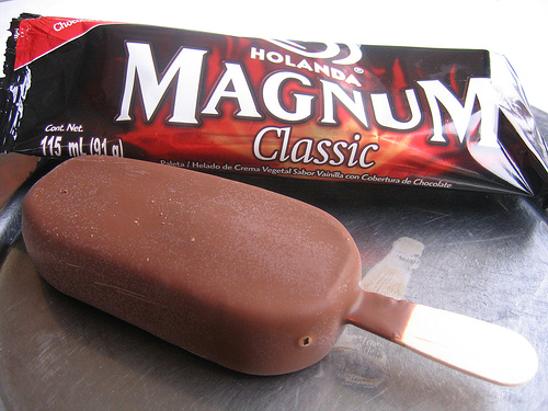 Magnum Ice Cream in Twitter Promoted Tweet