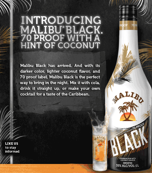Malibu Black has launched a Social Gaming promotion on Facebook