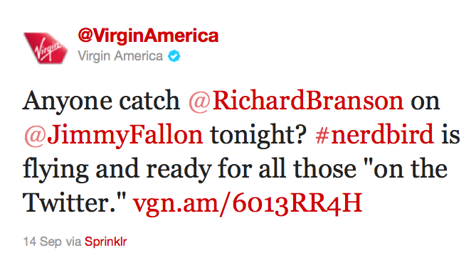 Virgin America Embraces Social Media
