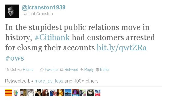 Occupy Wall Street and Citibank: social media and the open dialog with customers