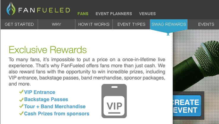 FanFueled rewards fans for promoting events to their peers
