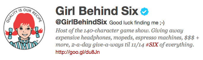@GirlBehindSix, Wendy's Stealth Twitter Campaign