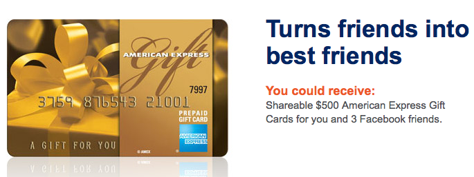 American Express' Gift Chain Rewards Online Shoppers, Facebook Friends