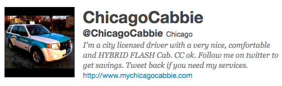 Chicago Taxi Driver Who Tweets