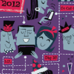 Snippet from The Social Media Monthly January 2012 issue cover - art by Derek Yaniger