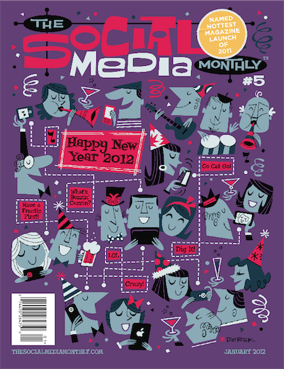 The Social Media Monthly's January issue cover