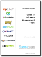 The Realtime Report's Guide to Influence Measurement Tools