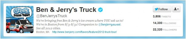 Social Ice Cream - Ben & Jerry's Truck Tour 2012