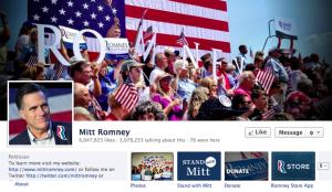 Mitt Romney Facebook page