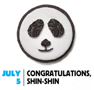 Oreo Daily Twist Congratulates Panda Shin-Shin on her newborn cub
