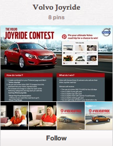 Volvo Cars US Pinterest Campaign
