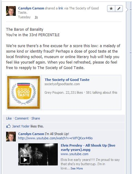 The Grey Poupon Society of Good Taste Rejects Facebook Fans