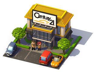 Century 21 in SimCity Social Game (image: Century 21 blog)