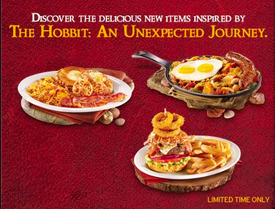Denny's new Hobbit-themed menu items