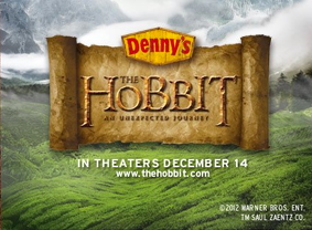 Denny's QR Code Campaign Featuring Exclusive Content for 'The Hobbit'