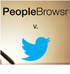 PeopleBrowsr and Twitter small settle