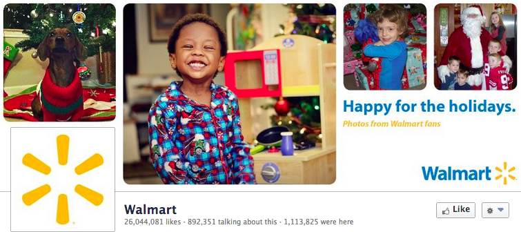 Walmart's Facebook page