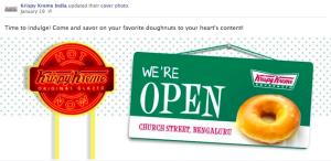Krispy Kreme India Facebook page