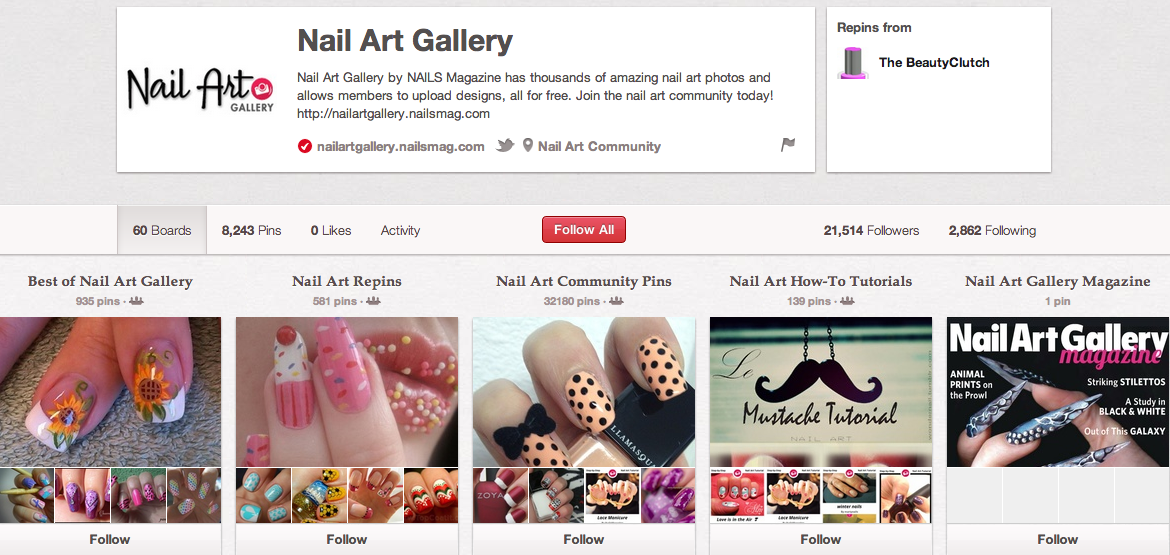 Nail Art Gallery on Pinterest