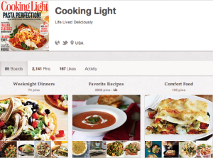 Cooking Light Pinterest strategy