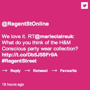 #RegentStreet tweet