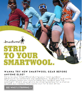 Strip To Your SmartWool Facebook Campaign