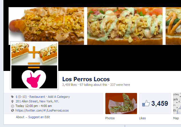 Local Business on social media: Los Perros Locos has built an active community on Facebook