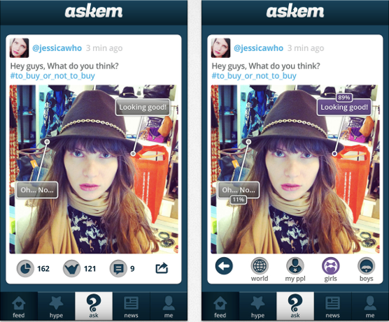 Askem: users ask their social network and get answers -- in realtime
