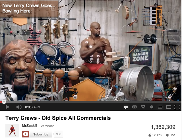 Old Spice Online VIdeo Ad