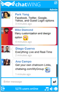 ChatWing Live Chat Example