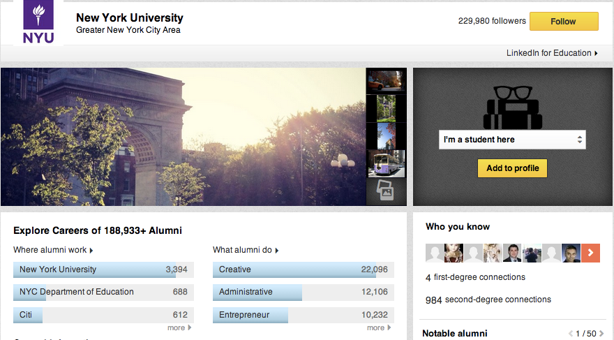 LinkedIn launches University Pages