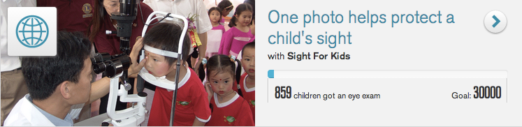 Johnson & Johnson's mobile campaign to benefit Sight for Kids