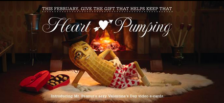Mr. Peanut Valentine's Day Facebook campaign