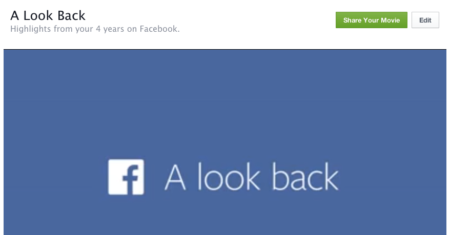 Facebook Look Back movie now has edit options