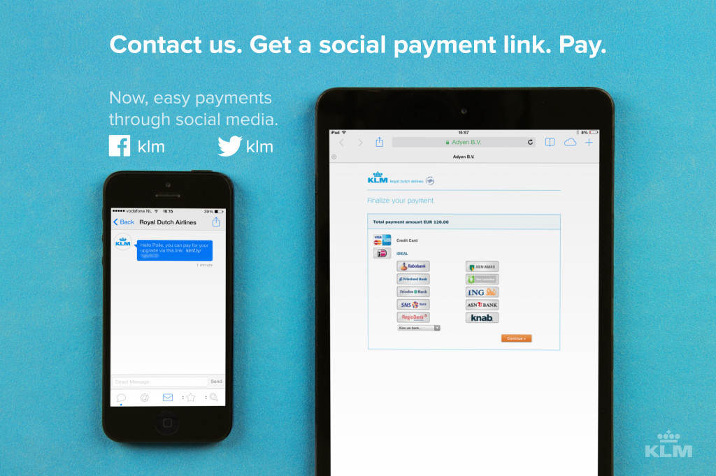 KLM customers can book flights and pay on social media