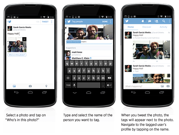 Twitter rolls out photo tagging