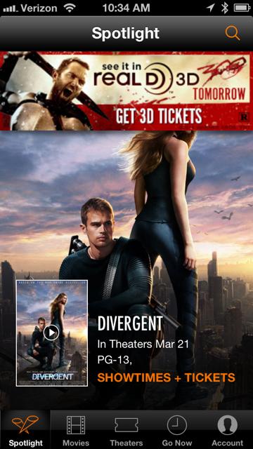 Checking movie info via smartphone