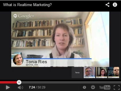 Tonia Ries talks Realtime Marketing on The Friday Hangout