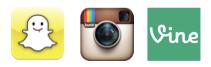 Snapchat Instagram Vine