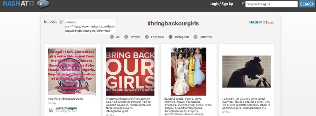 HashAtIt Hashtag Search #BringBackOurGirls
