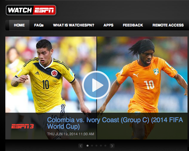 The U.S.-Ghana match attracted 1.4 million viewers; a record for WatchESPN.